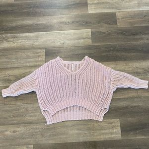 Free People Sweater Pink